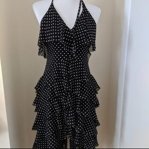 Alice+Olivia black and white Lorilee dress
